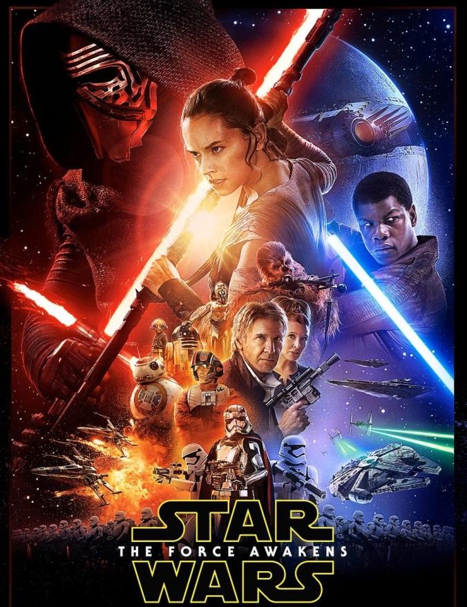 Póster Oficial de 'Star Wars: El despertar de la fuerza' - Fuente: blogdecine.com