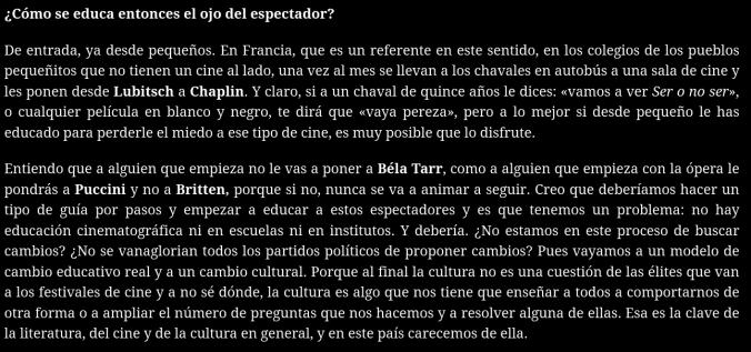 Pregunta de la entrevista a Jaume Ripoll en Jot Down